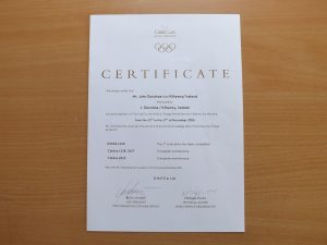 Certificate from Omega